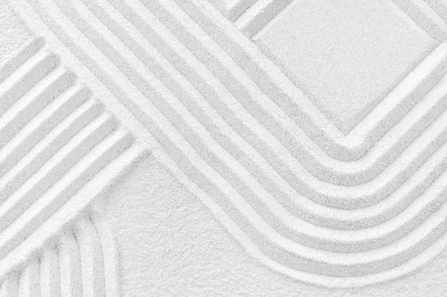 Vierkante zen zand achtergrond in mindfulness concept Gratis Foto