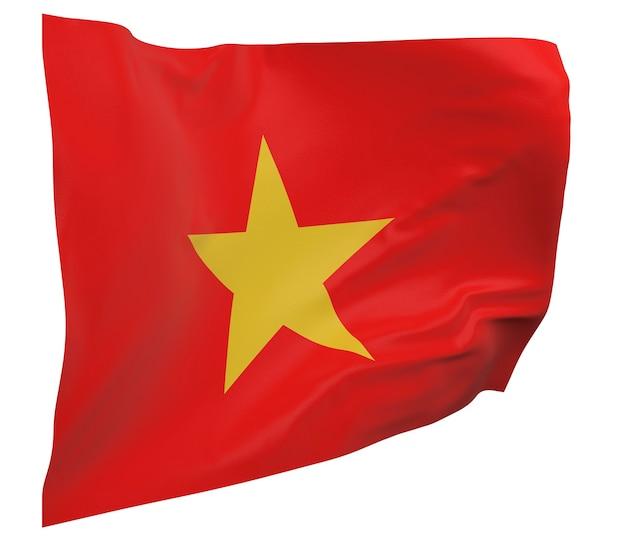 Vietnam vlag geïsoleerd. zwaaiende banner. nationale vlag van vietnam