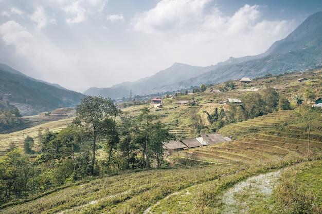 Vietnamees landschap in sa pa