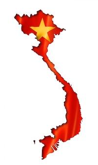 Vietnamese vlag kaart