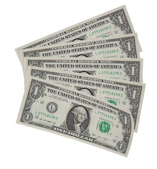 Vijf bankbiljetten één dollar