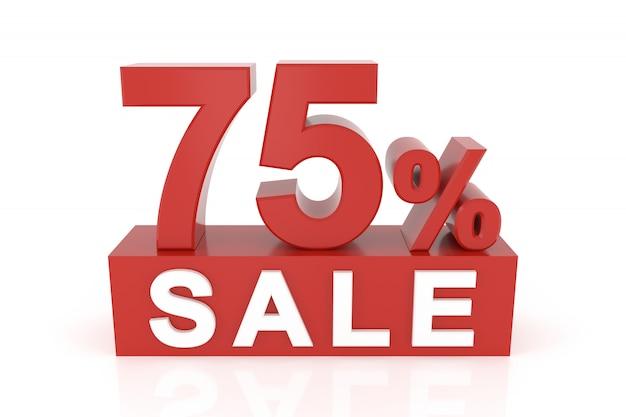 Vijfenzeventig procent verkoop