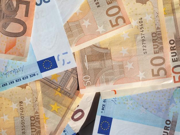 Vijftig en twintig euro bankbiljetten munteenheid van de europese unie