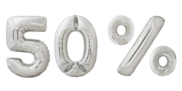 Vijftig procent korting chroom ballonnen