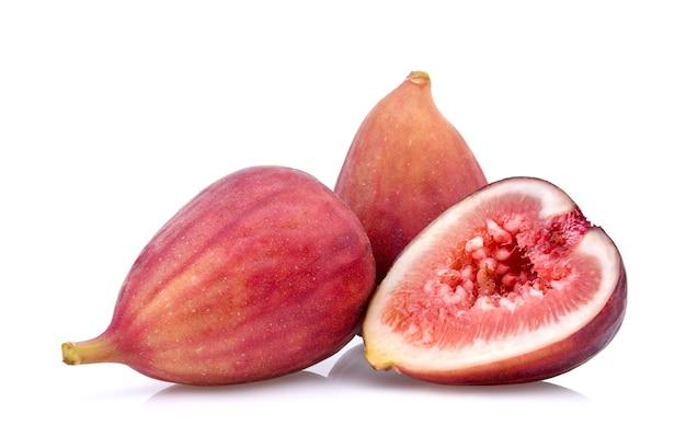 Vijgen fruit geïsoleerd op een witte achtergrond.