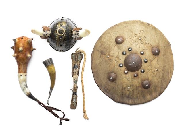 Viking wapen op witte achtergrond