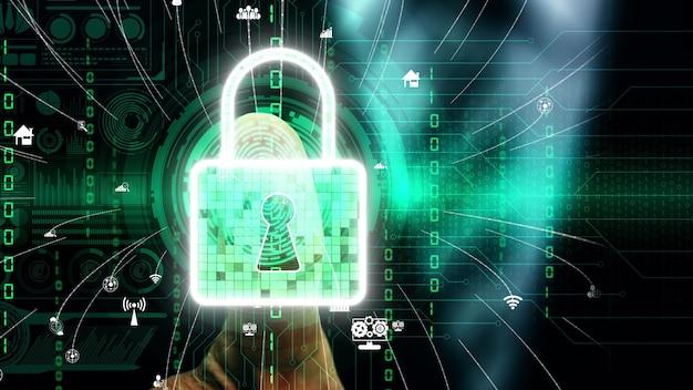 Vingerafdruk biometrische digitale scan technologie conceptueel