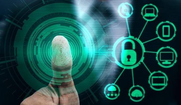 Vingerafdruk biometrische digitale scantechnologie.