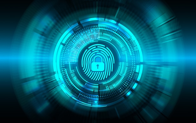 Vingerafdruk netwerk cyber security achtergrond