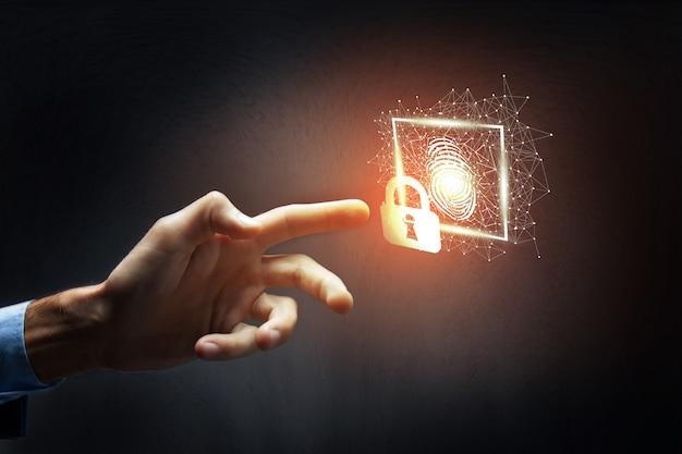 Vingerafdrukscan biedt beveiligingstoegang met biometrische identificatie