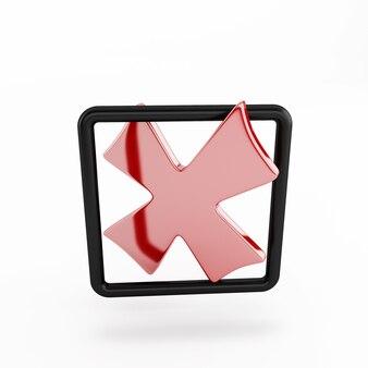 Vinkje geen pictogram in geïsoleerde doos