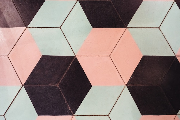 Vintage achtergrond met zeshoekige vormen