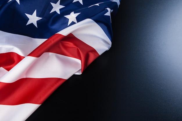 Vintage amerikaanse vlag met ruimte voor tekst
