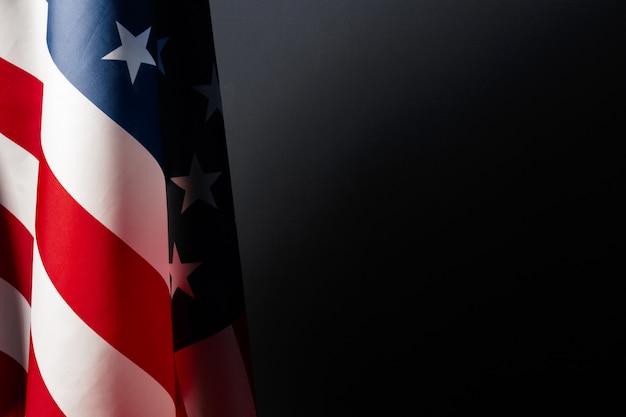 Vintage amerikaanse vlag op een schoolbord