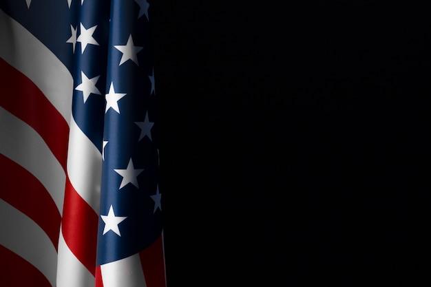 Vintage amerikaanse vlag op schoolbord met ruimte voor tekst