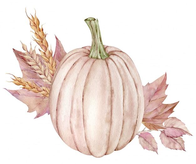 Vintage aquarel thanksgiving illustratie.