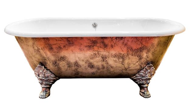 Vintage badkuip geïsoleerd op wit