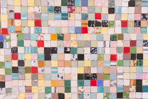 Vintage betegelde muur textuur