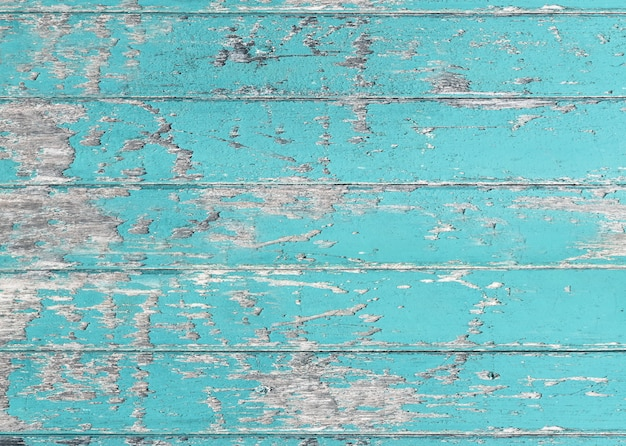 Vintage blauwe kleur geschilderd houten muur als achtergrond of textuur