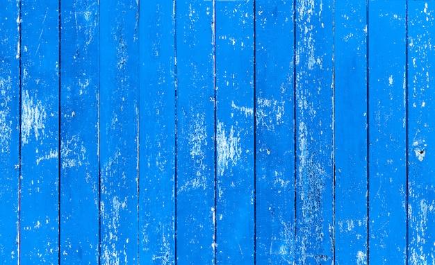 Vintage blauwe kleur geschilderde houten muur