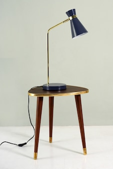 Vintage blauwe lamp