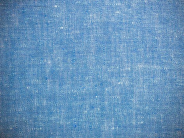 Vintage blauwe textuur linnen stof
