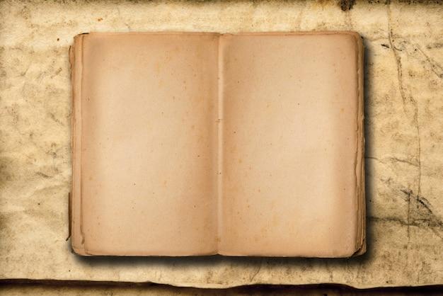 Vintage boek met te schrijven copyspace