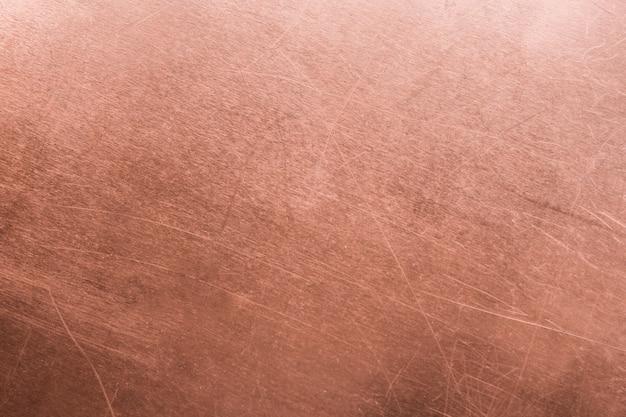 Vintage bronzen of koperen plaat, non-ferro metaal