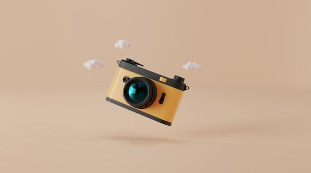 Vintage camera 3d illustratie.