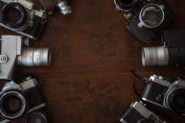 Vintage camera als achtergrond