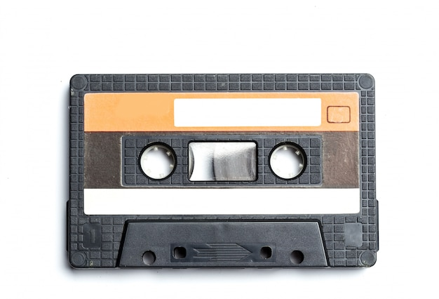 Vintage cassette geïsoleerd