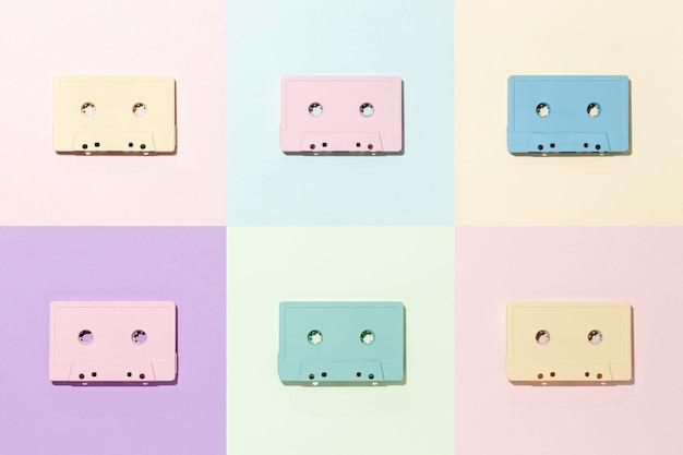 Vintage cassettebandjes arrangement