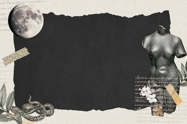 Vintage collage behang donkere achtergrond behang, papier textuur met ontwerpruimte