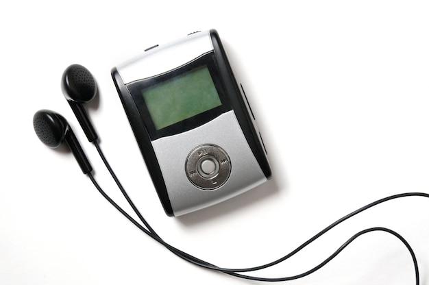 Vintage digitale muziekspeler geïsoleerd