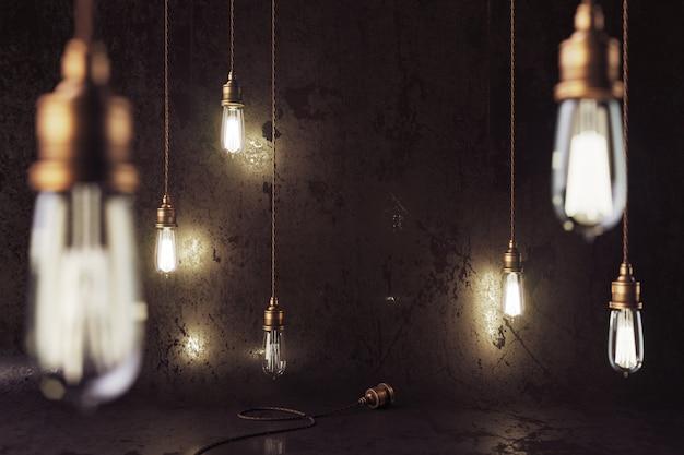 Vintage elektrische lampen