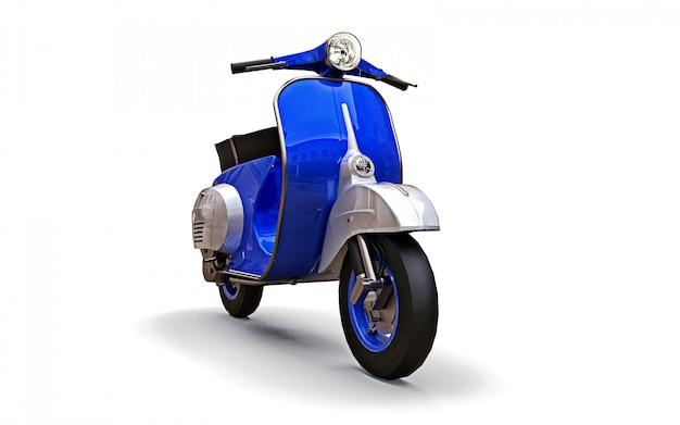 Vintage europese blauwe scooter