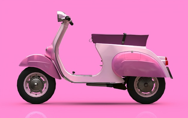 Vintage europese roze scooter