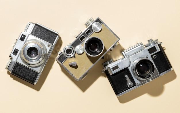 Vintage fotocamera's samenstelling