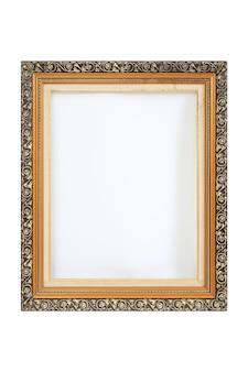 Vintage fotolijsten geïsoleerd op een witte achtergrond. afbeelding met uitknippad