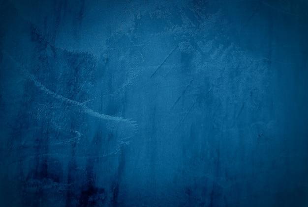 Vintage grunge blauwe betonnen textuur muur achtergrond