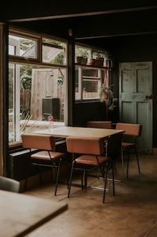 Vintage hoek in een restaurant