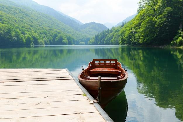 Vintage houten boot