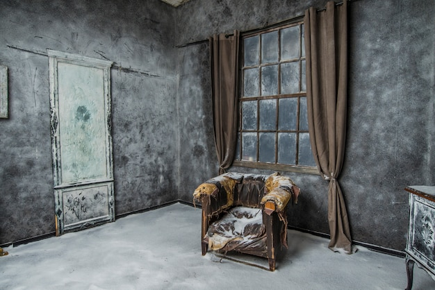 Vintage interieur met adandoned