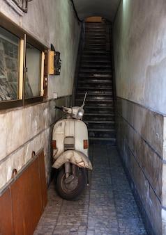 Vintage italiaanse scooter