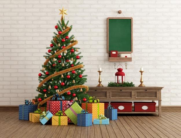 Vintage kerst interieur