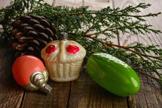Vintage kerstspeelgoed