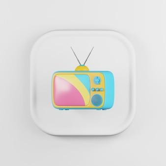 Vintage kleurentelevisie pictogram