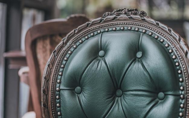 Vintage kussen stoel