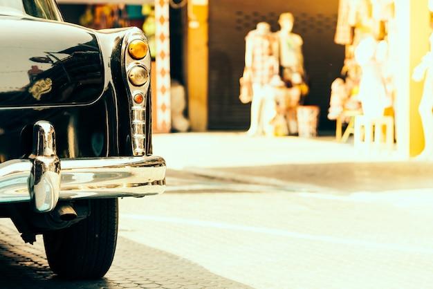 Vintage lichte lampauto