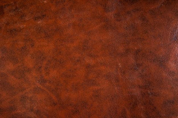 Vintage of oude stijl van bruin leder textuur gebruik als achtergrond